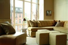 Lovely Living Room with Tan Sectional