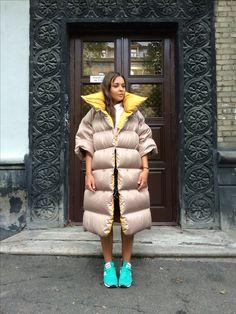 Down coat. Oversize puffer coat  MARCHI, Fill Power 800 #пуховиk #down #oversize #marchi