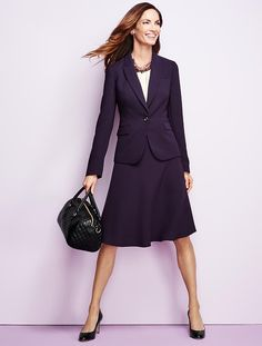 Talbots - Seasonless Crepe Single-Button Jacket | Suits and Separates |
