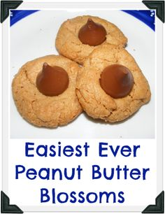 Easiest Ever Peanut Butter Blossoms - Beauty Through Imperfection