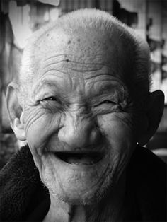 Smiling with no teeth. | 22 Things Your Grandparents Do Better Than You