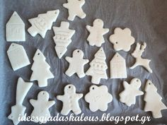 Ornaments for the tree from corn-dough and culinary … – Happy Christmas Christmas Activities, Christmas Crafts For Kids, Holiday Crafts, Christmas Decorations, Christmas Ornaments, Christmas Sketch, Christmas Mood, Christmas Material, Food Art For Kids