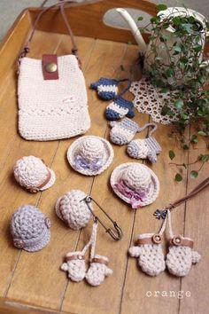 miniaturas invernales en crochet