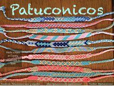 surtido Pulseras Patuconicos hechas a Mano en Corazon de tiza