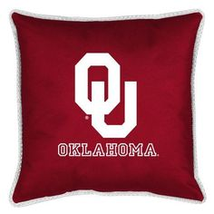 Oklahoma Sooners Sidelines Accent Pillow