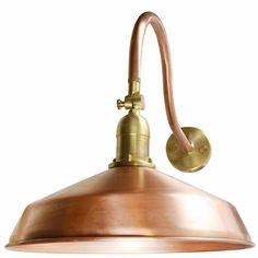 Solid Raw Copper Metal Gooseneck Barn Lights | AQLighting