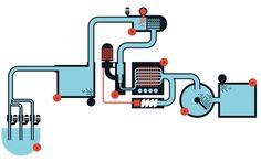 Crazy machine illustration