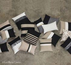 Decorative Pillows 133137732712477251 - Luxury Pillow Cover Set – Elegant Neutrals – Black, Cream, Natural & Gold – Modern Home Decor by JillianReneDecor (Custom Colors Available) Source by vavit Elegant Home Decor, Elegant Homes, Diy Home Decor, Room Decor, Pillow Cover Design, Pillow Covers, Pillow Set, Interior Design Inspiration, Home Decor Inspiration