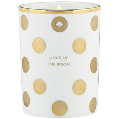 "Kate Spade Scented Candle ""Light Up The Room"" found on Polyvore"