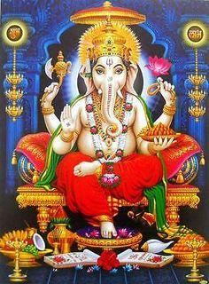 Sri Ganesh, Ganesh Lord, Shiva Hindu, Shiva Art, Ganesha Art, Hindu Deities, Krishna Art, Hindu Art, Ganesh Images