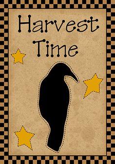 Harvest Time Primitive Printable Tags