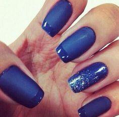 50 Ideas para pintar uñas color azul - Blue Nails   Decoración de Uñas - Manicura y NailArt