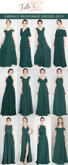 Green wedding dresses - emerald green bridesmaid dresses for fall weddings wedding weddinginspiration bridesmaids bridesmaiddress bridalparty maidofhonor weddingideas weddingcolors tulleandchantilly Emerald Green Bridesmaid Dresses, Green Wedding Dresses, Emerald Green Weddings, Fall Bridesmaid Dresses, Fall Dresses, Emerald Green Wedding Dress, Dress Wedding, Emerald Dresses, Dresses Dresses
