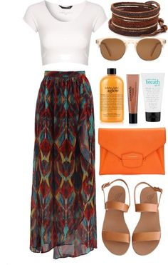 37 What to wear Street style ideas around your Was Sie anziehen sollten Street Style-Ideen um Ihre Garderobe zu aktualisiere… 37 What to wear Street style ideas to update your wardrobe - Mode Outfits, Skirt Outfits, Casual Outfits, Maxi Skirt Outfit Summer, Summer Maxi, Comfortable Outfits, Boho Fashion, Fashion Outfits, Womens Fashion