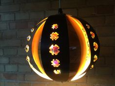 Coronell ceiling lamp prism copper & black metal by Qvirky on Etsy