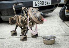 Car parts dog.
