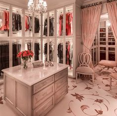 Dressing room, must remove closet doors, install shoe rack and put up luxurious curtains