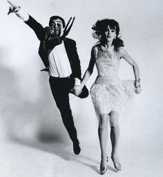 Jean Shrimpton and Dudley Moore by Richard Avedon.