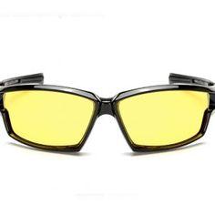 01687b2b7 Štýlové pánske polarizované okuliare pre šoférov na nočnú jazdu v čiernej  farbe Móda