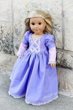Rapunzel Outfit for American Girl Doll by hollyberrysdolls on Etsy, $23.00
