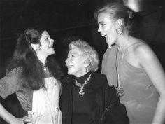 Gilda Radner, Mary Hemingway and Margaux Hemingway at Studio 54, 1978