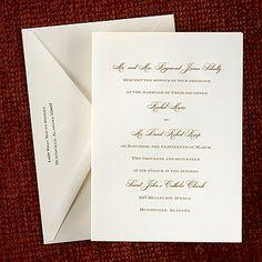 Royal Ecru Folder - Invitation weddingneeds.carlsoncraft.com