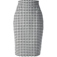 Alexander McQueen Printed Pencil Skirt ($376) ❤ liked on Polyvore featuring skirts, bottoms, alexander mcqueen, saias, white, high-waisted skirt, cotton knee length skirt, white skirt, high waisted knee length skirt and high waist skirt
