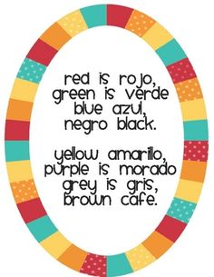 This is a free printable to use while teaching colors in Spanish. It is sung to the tune of Frere Jacques!