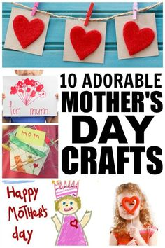 If you're looking for mothers day crafts to keep your kids from climbing the walls on rainy afternoons, check out these adorable mothers day crafts for kids. They are great boredom busters and make great keepsakes for grandmothers!