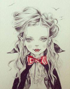 Vampire tattoo idea.                                                       …