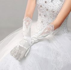 2015 New Arrival Bridal Gloves Pure White Long Winter Gloves With Lace Wedding Dress Accessories-in Bridal Gloves from Weddings & Events on Aliexpress.com | Alibaba Group