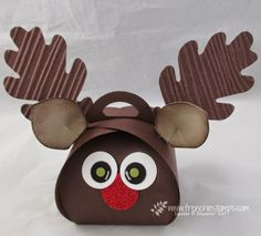 Stamp & Scrap with Frenchie: Reindeer Curvy Keepsake Box