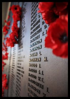 "Uncle Jack ""Cpl John McKinnon"" his name on WW1 Memorial Wall Canberra War Memorial. Sacred place. Lest we forget..."