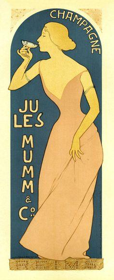 Affiche vintage Champagne Mumm #champagne #Mumm #vintage #oldies #affiche #femme