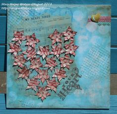 By Stacy Harper Watson - Crafter's Companion, August 2013  Sheena's A Little Bit Sketchy EZMount Stamp Set - Always Floral, Sheena's A Little Bit Sketchy EZMount Stamp Set - Only Words - From The Heart, Tsukineko Memento Luxe Rich Cocoa Ink, Tsukineko Memento Rich Cocoa Ink,Tsukineko Delicata Golden Glitz Ink, Tim Holtz Ranger Distress Ink – Walnut Stain, Collall Quick Dry Tacky Glue, Tim Holtz Ranger Distress Paint – Broken China,
