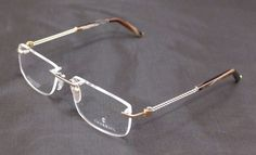 Charriol Eyeglasses Frame PC7431A C1 Gold Plated 22KT France Made 54-18-140 #Charriol