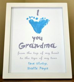 How to make this adorable I heart you footprint keepsake for Grandma or anyone, and how to reuse footprints for many craft projects! baby crafts I Heart You Footprint Tutorial Crafts To Do, Crafts For Kids, Family Crafts, Kids Diy, Decor Crafts, Paper Crafts, Diy Spring, Baby Footprints, Grandparent Gifts