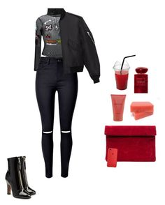 """""""Own it"""" by nastasiaboursi on Polyvore featuring GCDS, WithChic, Giorgio Armani, Liz Claiborne, Yves Saint Laurent and Valentino"""