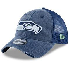 f6b0a09d41b81 Men s Seattle Seahawks New Era College Navy Tonal Washed 2 Trucker 9TWENTY Adjustable  Hat