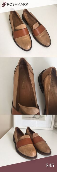 Free People 37 loafers Tan leather loafers size 37 Free People Shoes Flats & Loafers