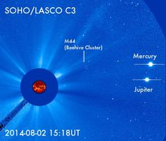 RT @landonnoll: Jupiter,Mercury&Beehive @ESA/@NASA SOHO/LASCO C3 pic.twitter.com/wi1XrBDbsw <2008 Total eclipse Vulcanoid asteroid search loc
