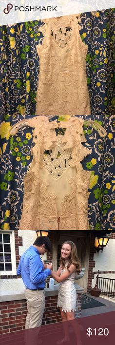 EUC Free People Jessa Foil Lace Dress Size small high neck, open back dress with textured floral design. My daughter wore it to Homecoming 2015 (see pic). EUC. Free People Dresses