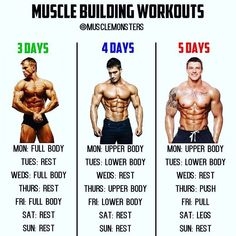 Muscle Building Workouts By _ There is no best workout routine only best training principles. If there were a best workout then wed all be on it and wed all be making amazing gains. But thats just not the case there are far too many var Fitness Workouts, 5 Day Workouts, Best Workout Routine, Weight Training Workouts, Fitness Motivation, Fitness Hacks, Training Exercises, Workout Schedule, Training Programs