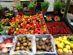 Fruits and vegetables in Enfants Rouges market. Fruits And Vegetables, Food, Fruits And Veggies, Essen, Meals, Yemek, Eten
