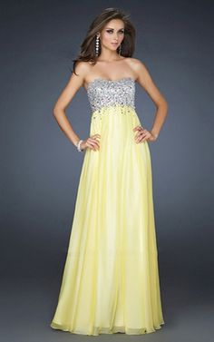 8133f9e2d9 homecoming dresses Prom Dress yellow strapless Yellow Dress