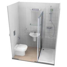 Bathroom showers 247768416986659470 - Zigourney Bathroom & Shower Pods Source by Small Wet Room, Small Shower Room, Small Toilet Room, Small Bathroom Layout, Small Showers, Very Small Bathroom, Small Bathroom Plans, Bathroom Layout Plans, Small Basement Bathroom