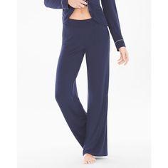 Soma Cool Nights Pajama Pants (51 CAD) ❤ liked on Polyvore featuring intimates, sleepwear, pajamas, navy, pants, soma pajamas, holiday sleepwear, holiday pajamas, holiday pjs and tall pajamas