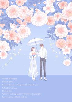 Cute Couple Art, Anime Love Couple, Cute Patterns Wallpaper, Love Wallpaper, Anime Couples Manga, Cute Anime Couples, Couple Illustration, Illustration Art, Cute Love Cartoons