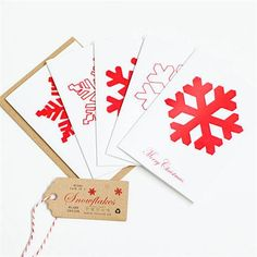 Recycled Snowflakes Christmas Card - Pack Of 5