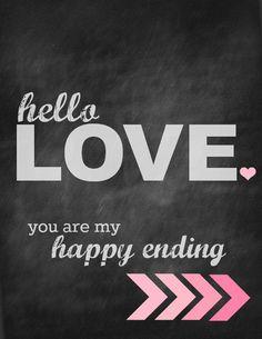 hello love valentines day printable